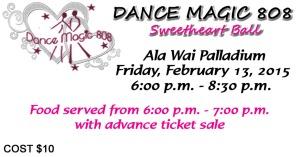 Dance Magic 808 Sweetheart Ball Ticket